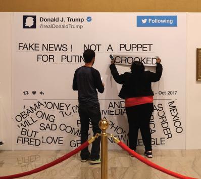 Nothing fake at Trump Twitter exhibit