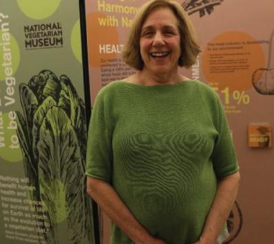 Touring vegetarian museum just a small exhibit now, but 75-year-old vegan has big plans