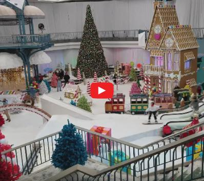 Abandoned Mall Turned into Winter Wonderland