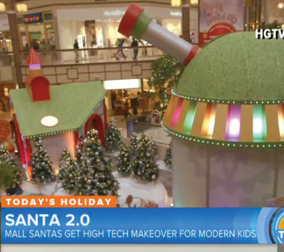 See how high-tech Santa experiences are attracting shoppers back to malls
