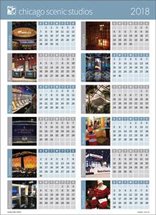 2018 Chicago Scenic Studios Calendar