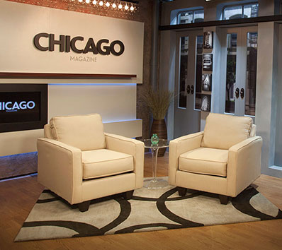 RedEye and Chicago Magazine Broadcast Studio Sets