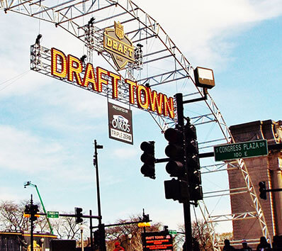 NFL Draft Town Sign