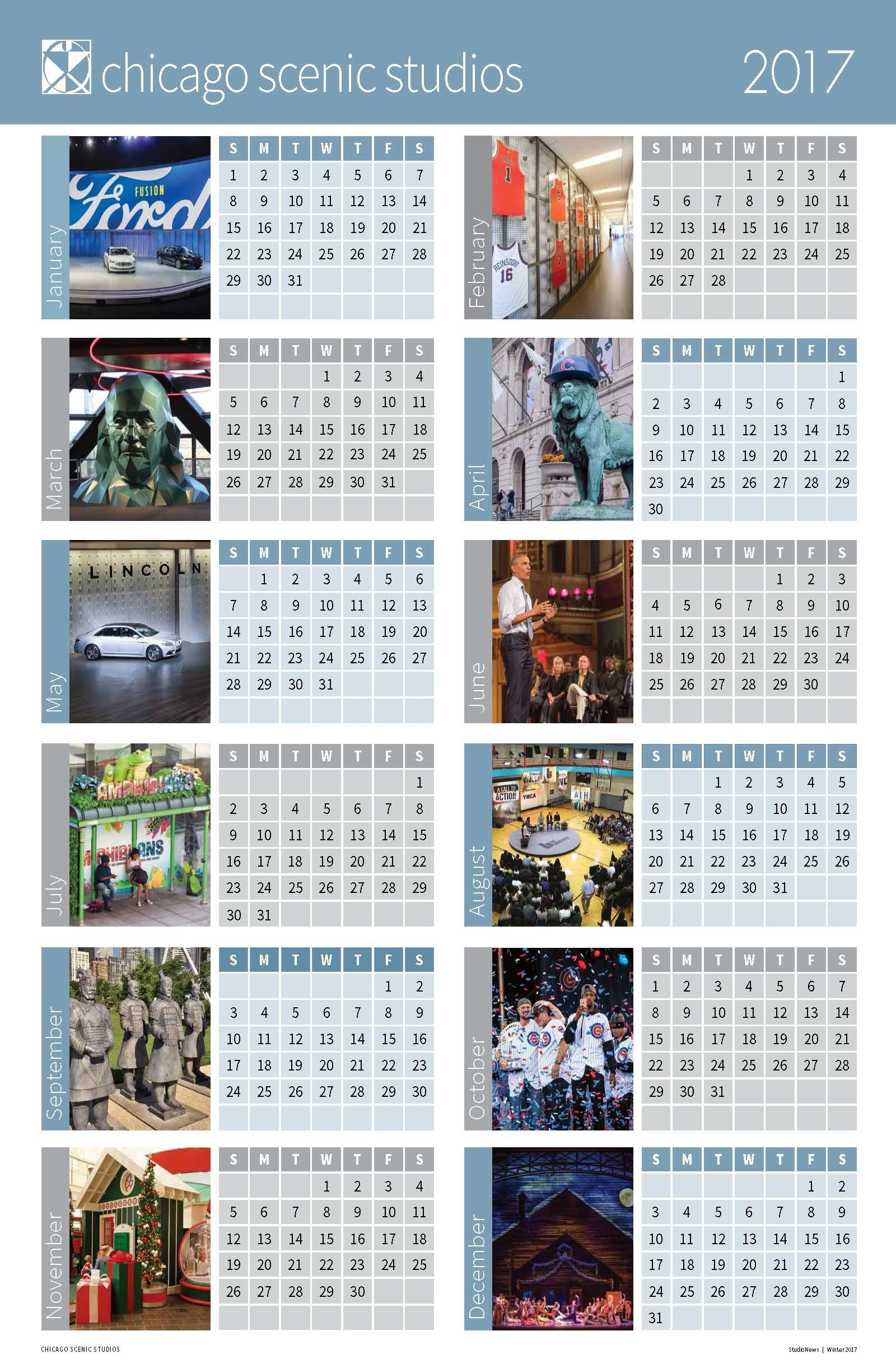 2017 Chicago Scenic Studios Calendar