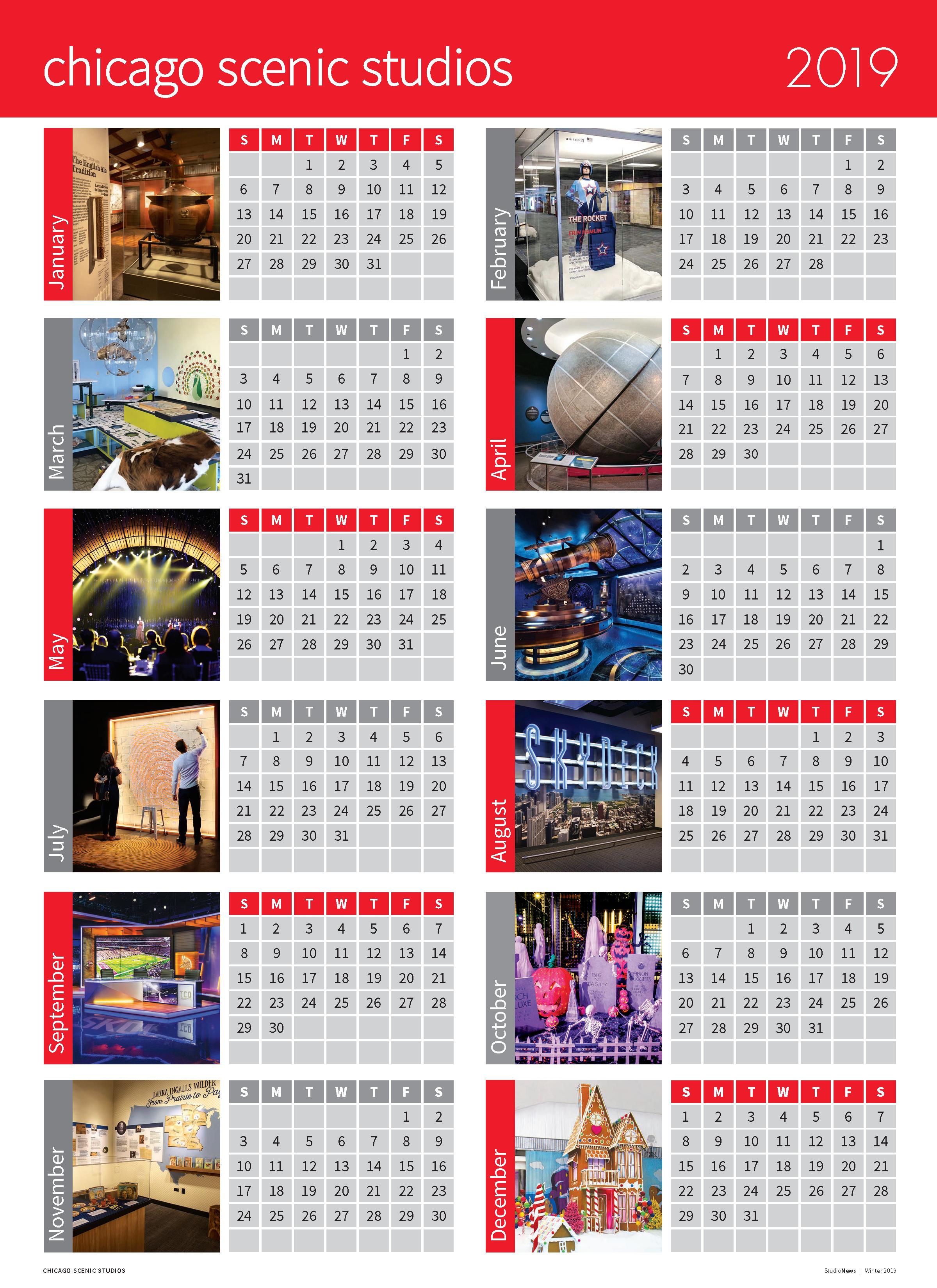 2019 StudioNews Calendar